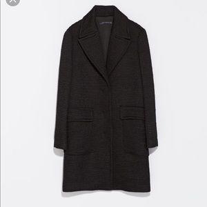 ZARA blazer coat in black fully lined size XS